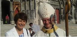 Hélène Dumont et Mgr Nahmias Évêque de Meaux